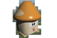3d model orange mushroom