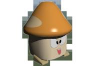 3d model orange mushroom