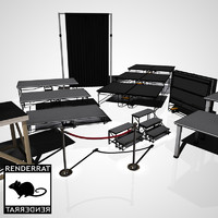 staging decking riser 3d model