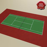tennis court v2 3d model