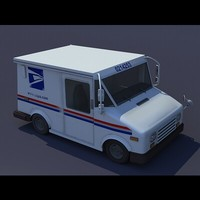 grumman usps mail 3d model