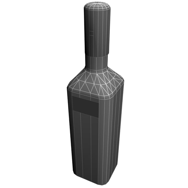 vodka bottle nemiroff 3ds - Vodka bottle Nemiroff... by 3d_molier