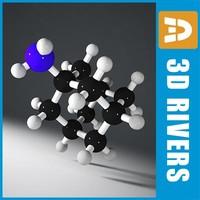 3d model amantadine molecule structure