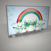 3d billboard board model