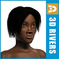 female black woman body 3d model