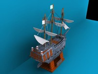 pirate ship black pearl 3d model