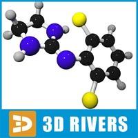 clonidine molecule structure 3ds