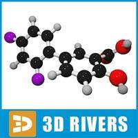 diflunisal molecule structure 3ds