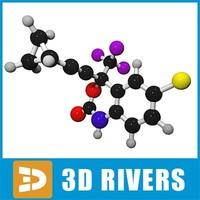 efavirenz molecule structure 3d model