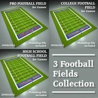 3d football field model