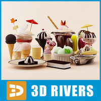 Ice cream set by 3DRivers
