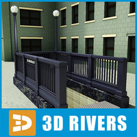 New York subway entrance 02 by 3DRivers