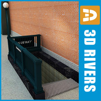 3d new york subway entrance model