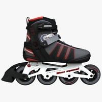 rollerblades roller 3d max