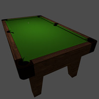 3d billiards table green felt