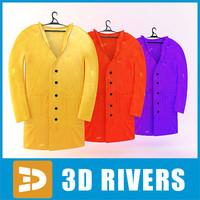 3dsmax raincoat set clothes 02