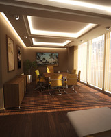 3d 3ds chairman office scene senior