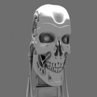 Terminator T800 Cyborg Skull