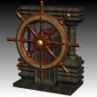 3d model shipwheel ship