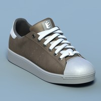 Sports shoes #02 brown white (generic logo)