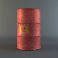 chemical barrel 3d model