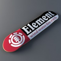 3ds max element skateboards - feather