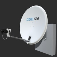 satellite antenna 3d model