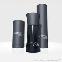 3d model armani code aftershave