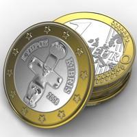 Coin.Europe.1 Euro.Cyprus.LP