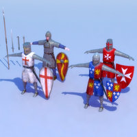 Knight_x4Set-01_3D-Model