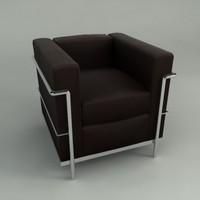 3d corbusier furniture model