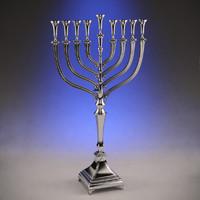 silver menorah 3d max