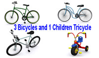 3d bicycles tricycle