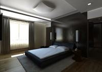 bedroom bed room 3d model