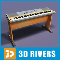 digital synthesizer 3d model
