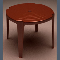 3d model table plastic