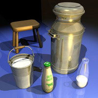 Milk Bottle and Can 01