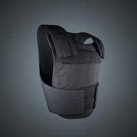 bullet proof vest police 3d model