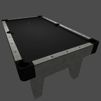billiards table black pool 3ds