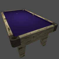 3d billiards table purple pool
