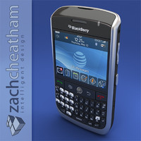 blackberry curve 8900 3d model