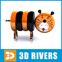 baby toy tiger 3d obj