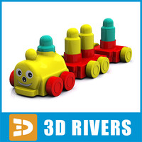 3d baby toy train