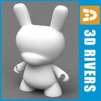 3d vinyl rabbit toys model