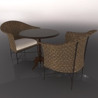 cinema4d table chair