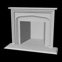 fireplace home 3d obj