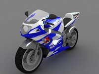 bike suzuki 3d model