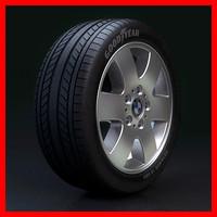 wheel rim tyre 3d model