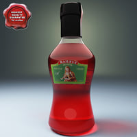 bottle liquor baileys 3d c4d