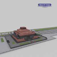 lenin mausoleum 3d model